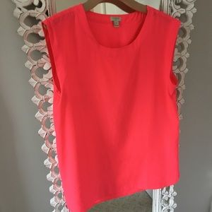 J. Crew sleeveless pink blouse • M • NWOT